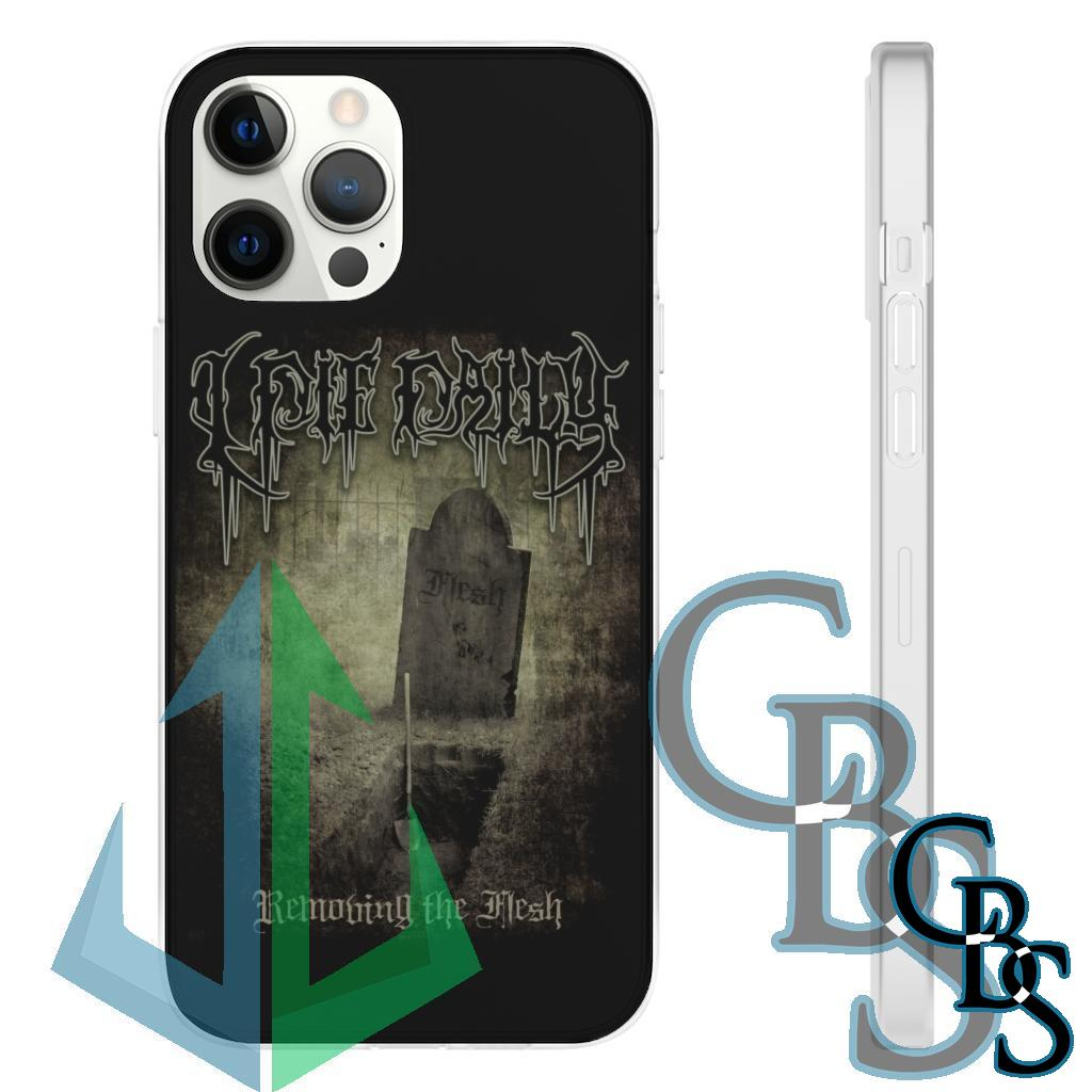 I Die Daily – Removing the Flesh  Clear Edge TPU Cases for iPhone 7 through iPhone 12, Samsung Galaxy S10