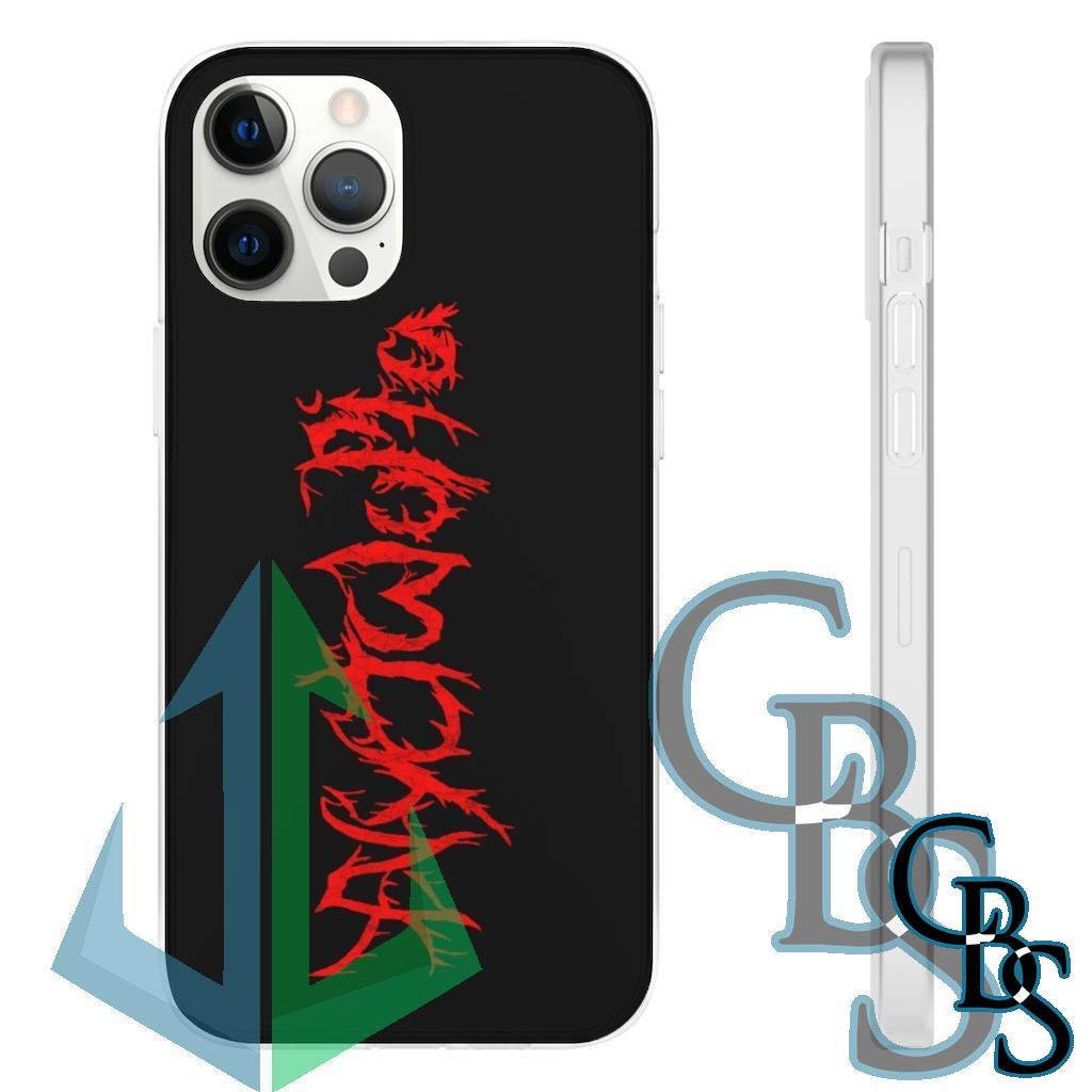 Nyctalopia Logo  Clear Edge TPU Cases for iPhone 11 to iPhone 12 Pro Max, Samsung Galaxy S10/S10 Plus