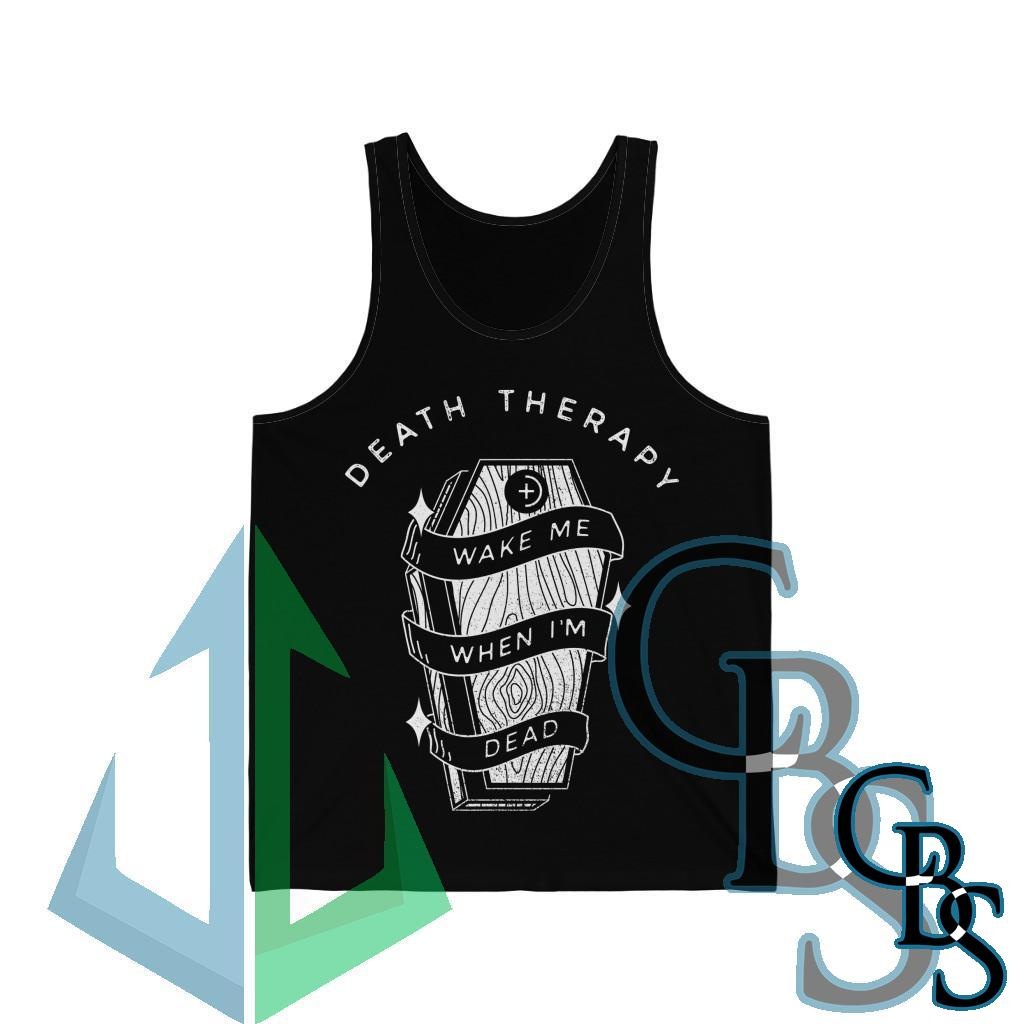 Death Therapy – Wake Me When I'm Dead Jersey Tank Top
