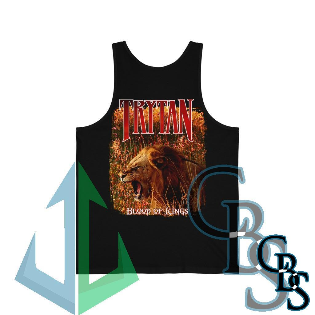 Trytan – Blood of Kings Sword and Lion Unisex Jersey Tank Top