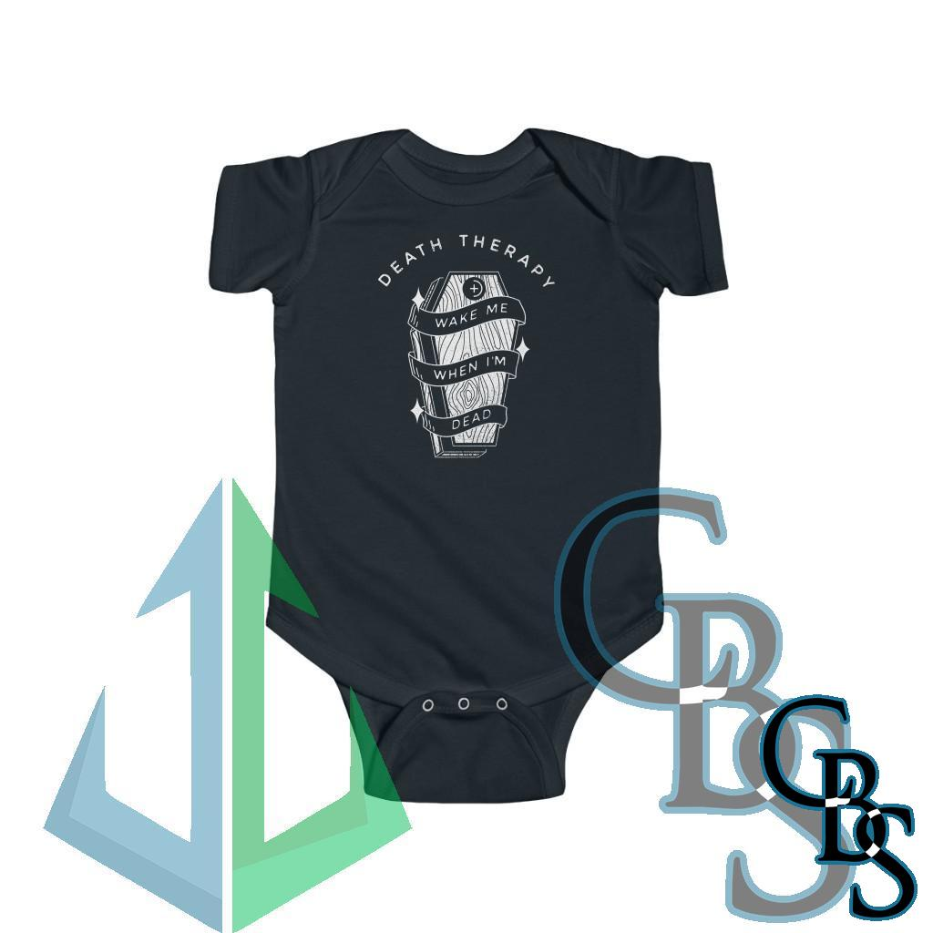 Death Therapy – Wake Me When I'm Dead Infant Fine Jersey Bodysuit