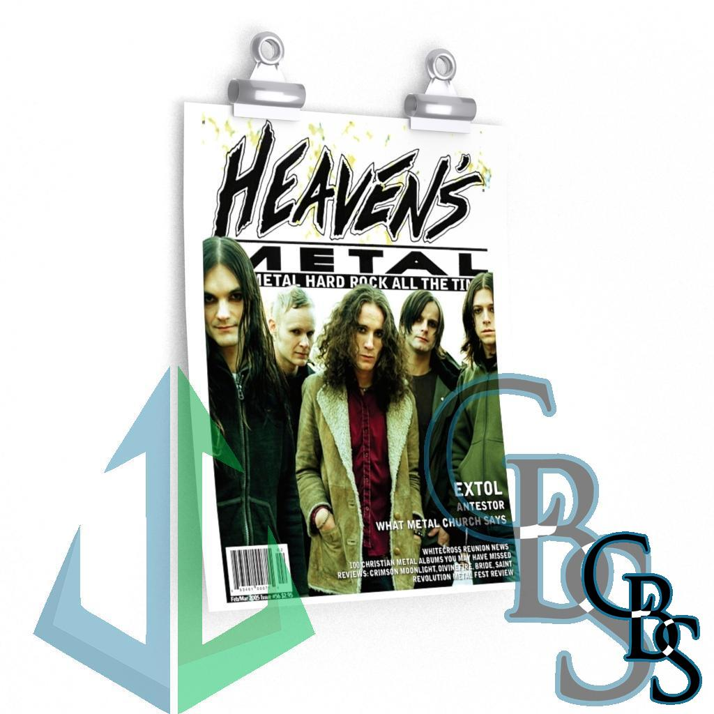 Heaven's Metal Magazine Issue 56 Extol Posters
