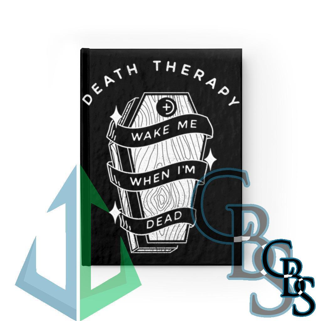 Death Therapy – Wake Me When I'm Dead Ruled Line Journal