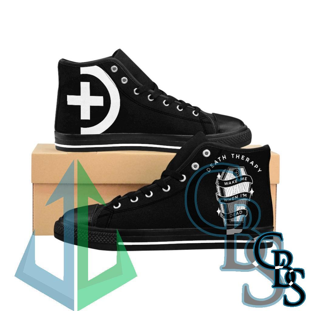 Death Therapy – Wake Me When I'm Dead Men's High-top Sneakers