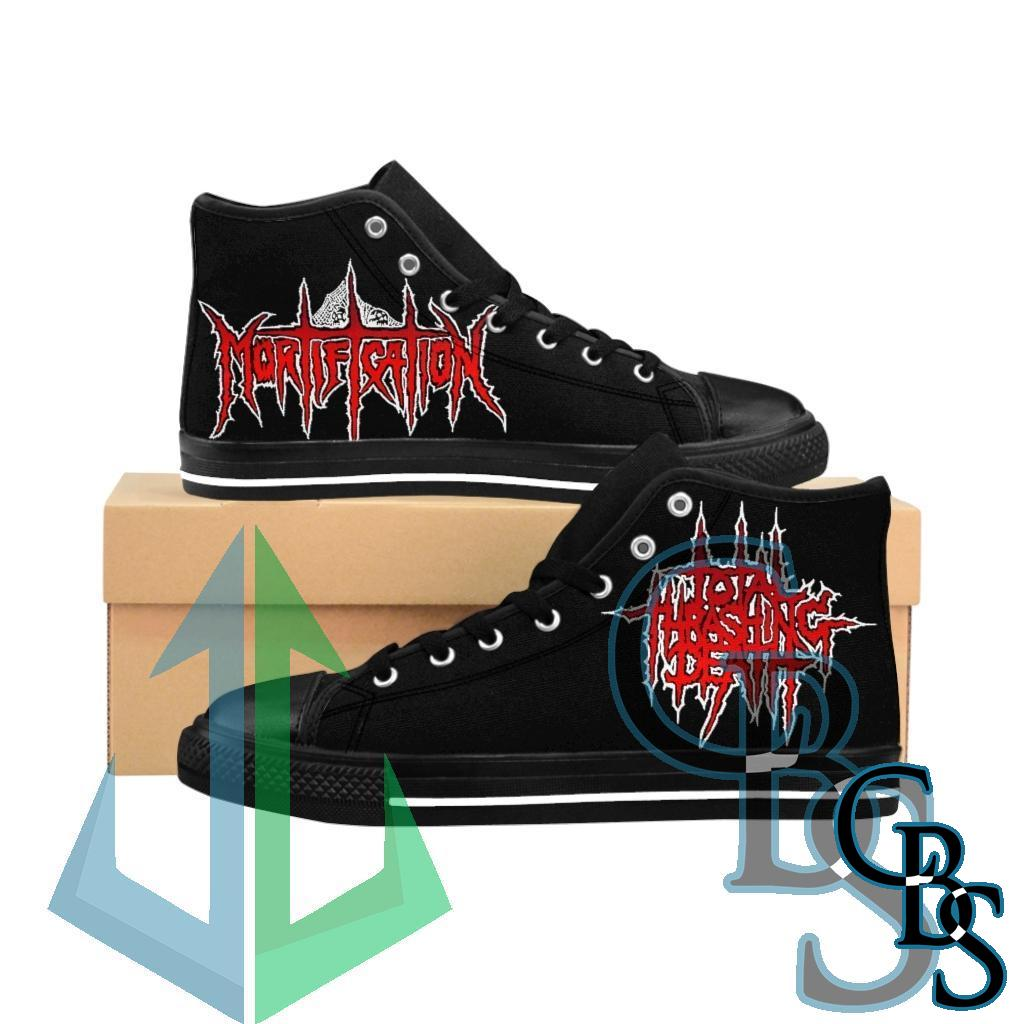 Mortification Total Thrashing Death (Red) Men's High-top Sneakers