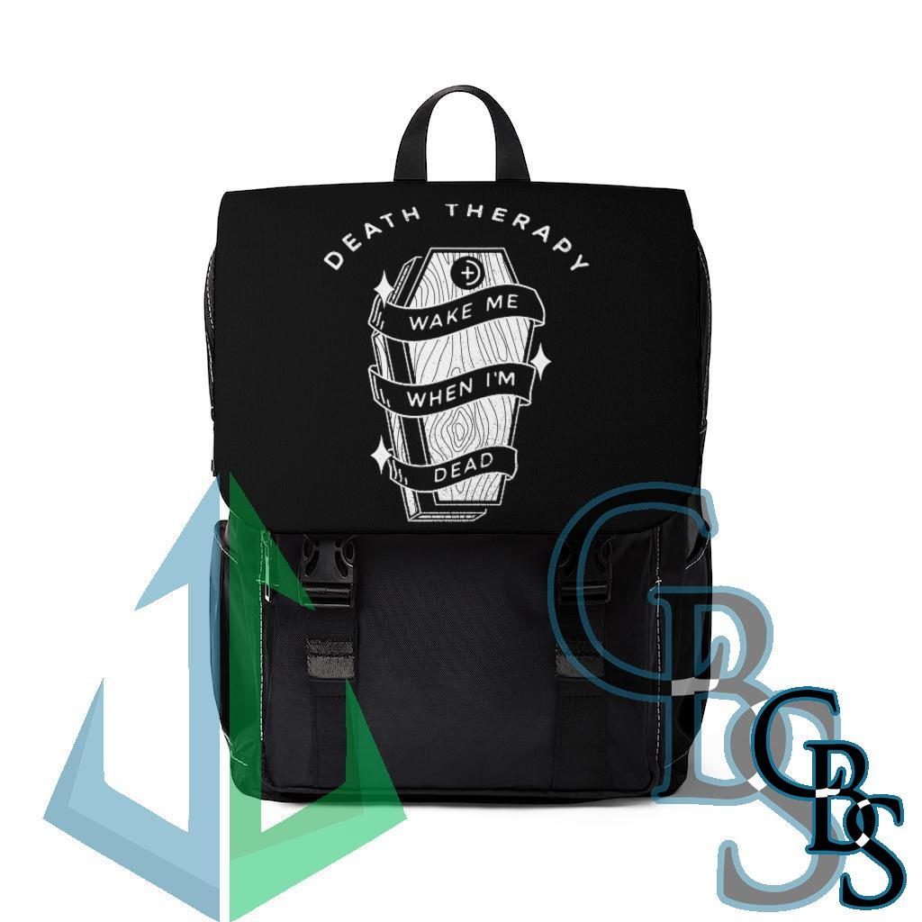 Death Therapy – Wake Me When I'm Dead Casual Shoulder Backpack