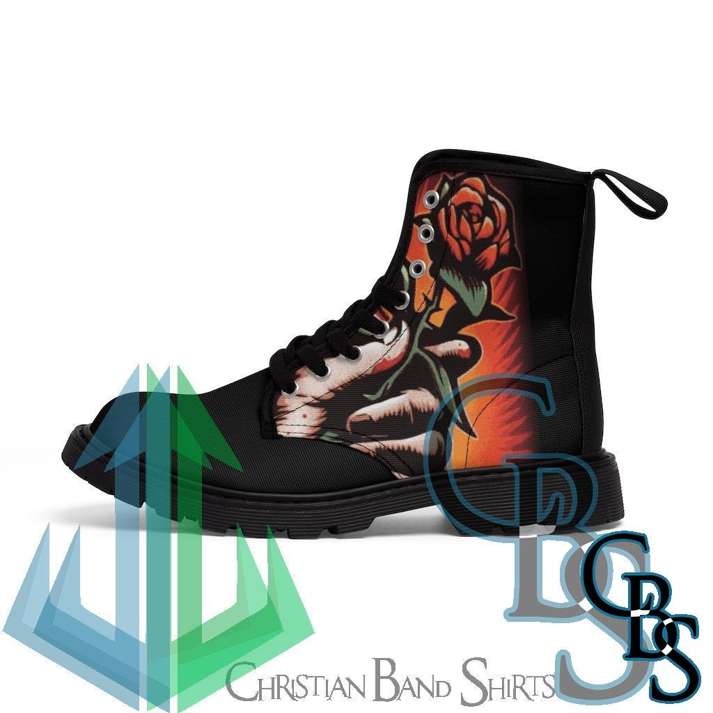Grave Robber – Love Hurts Women's Canvas Boots