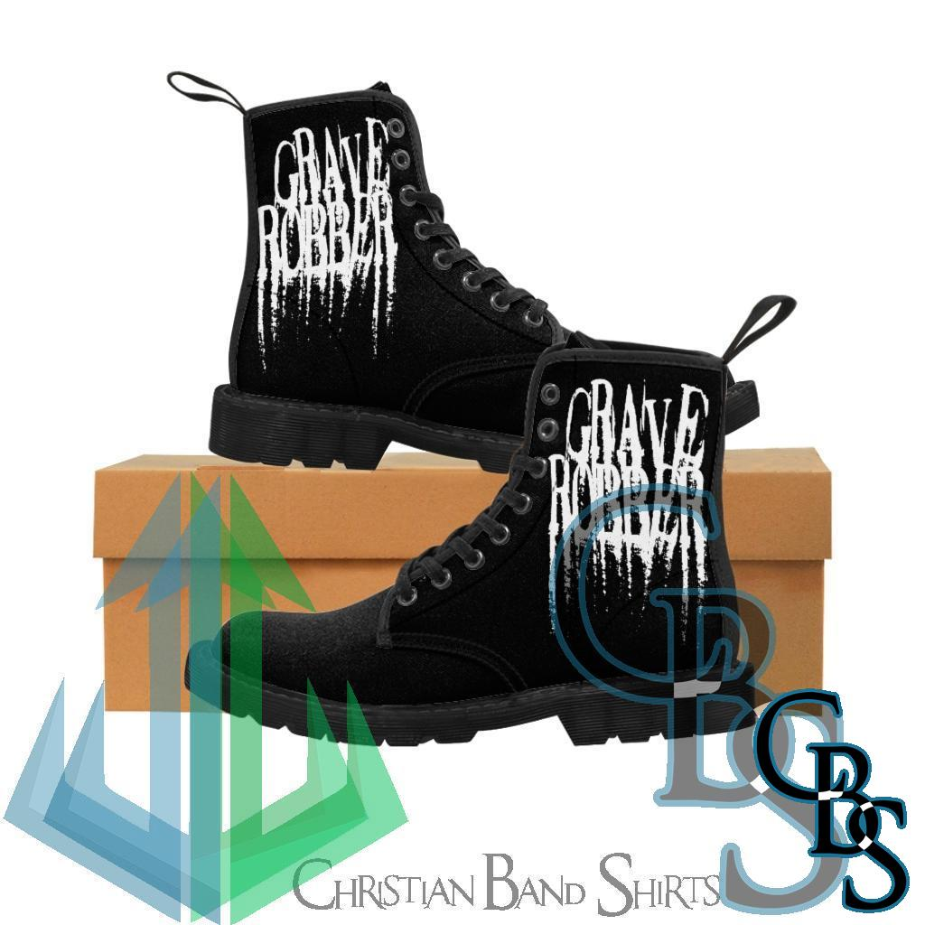 Grave Robber Skull Women's Canvas Boots