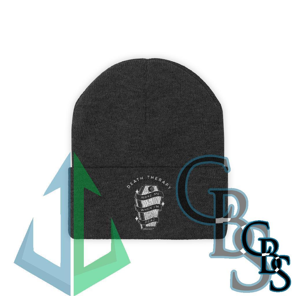 Death Therapy – Wake Me When I'm Dead Knit Beanie