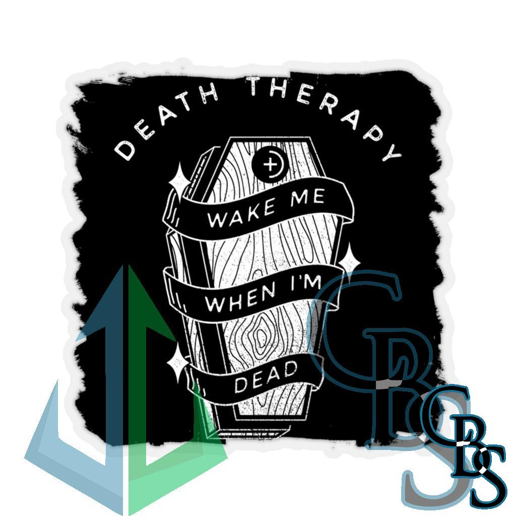 Death Therapy – Wake Me When I'm Dead Die Cut Stickers
