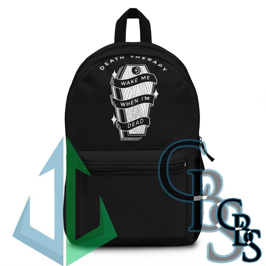 Death Therapy – Wake Me When I'm Dead Backpack (Made in USA)