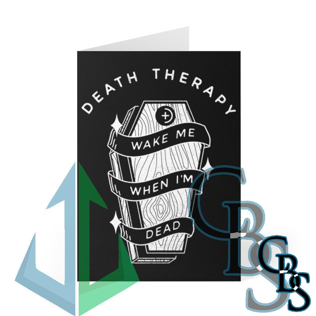 Death Therapy – Wake Me When I'm Dead Greeting Cards (8 pcs)