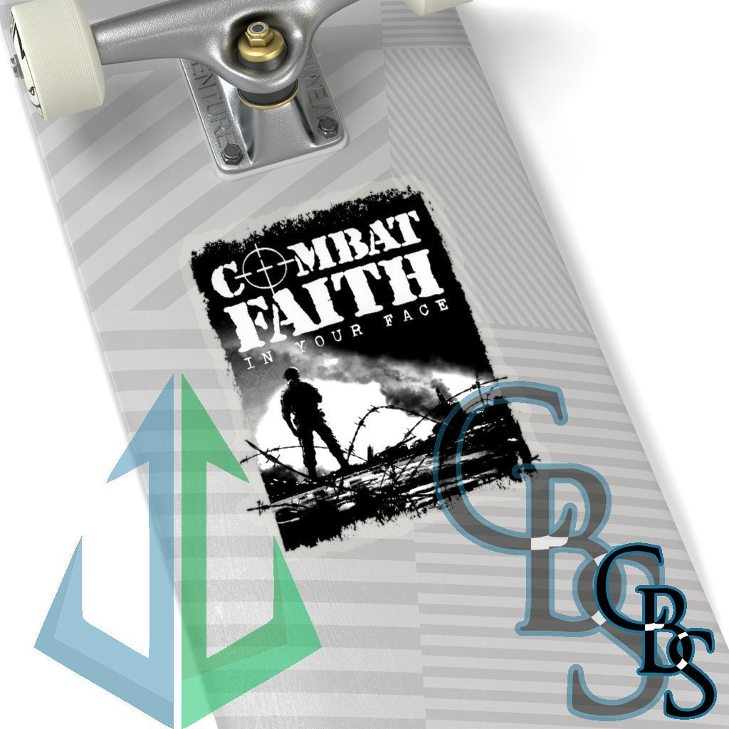 Combat Faith – In Your Face Die Cut Stickers