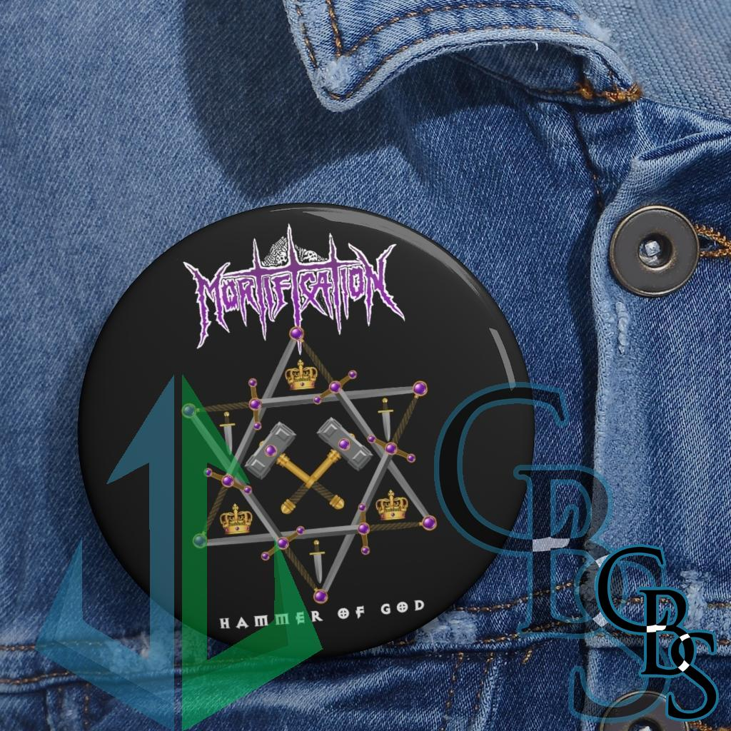 Mortification – Hammer of God Magazine Pin Buttons