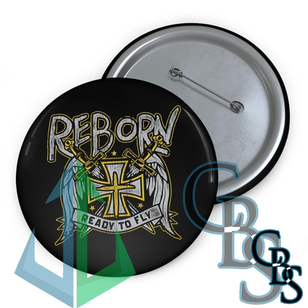 Reborn – Ready to Fly Pin Buttons