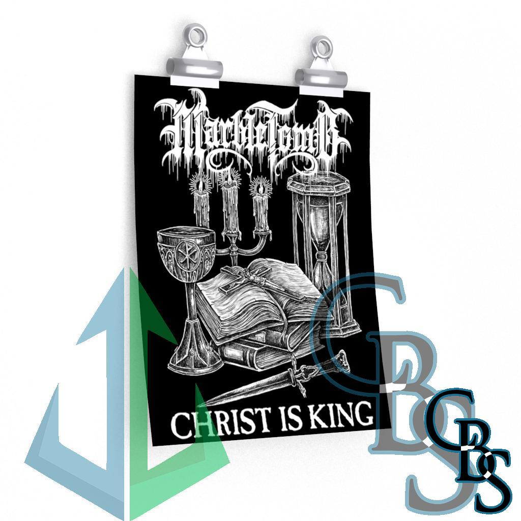 Marble Tomb Christ is King Posters