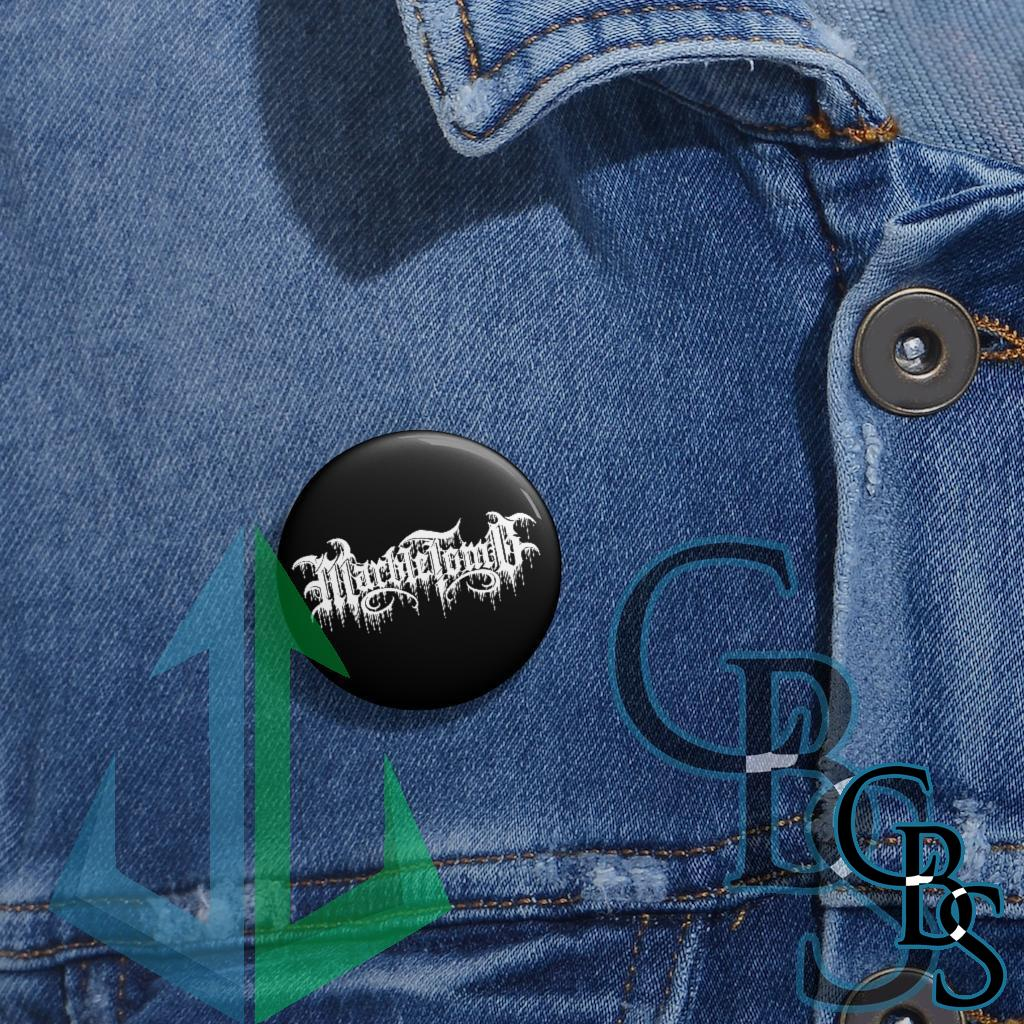 Marble Tomb Logo Pin Buttons