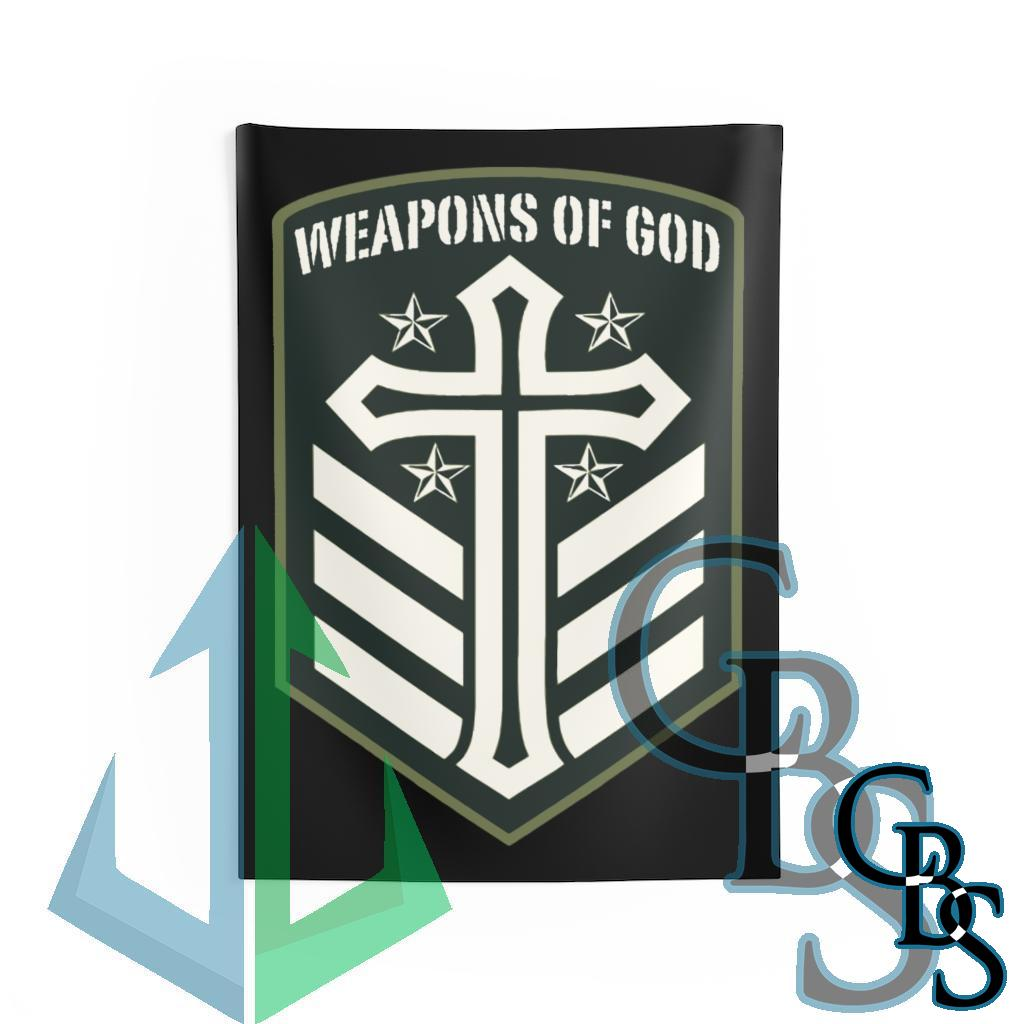 Weapons of God Emblem Indoor Wall Tapestries