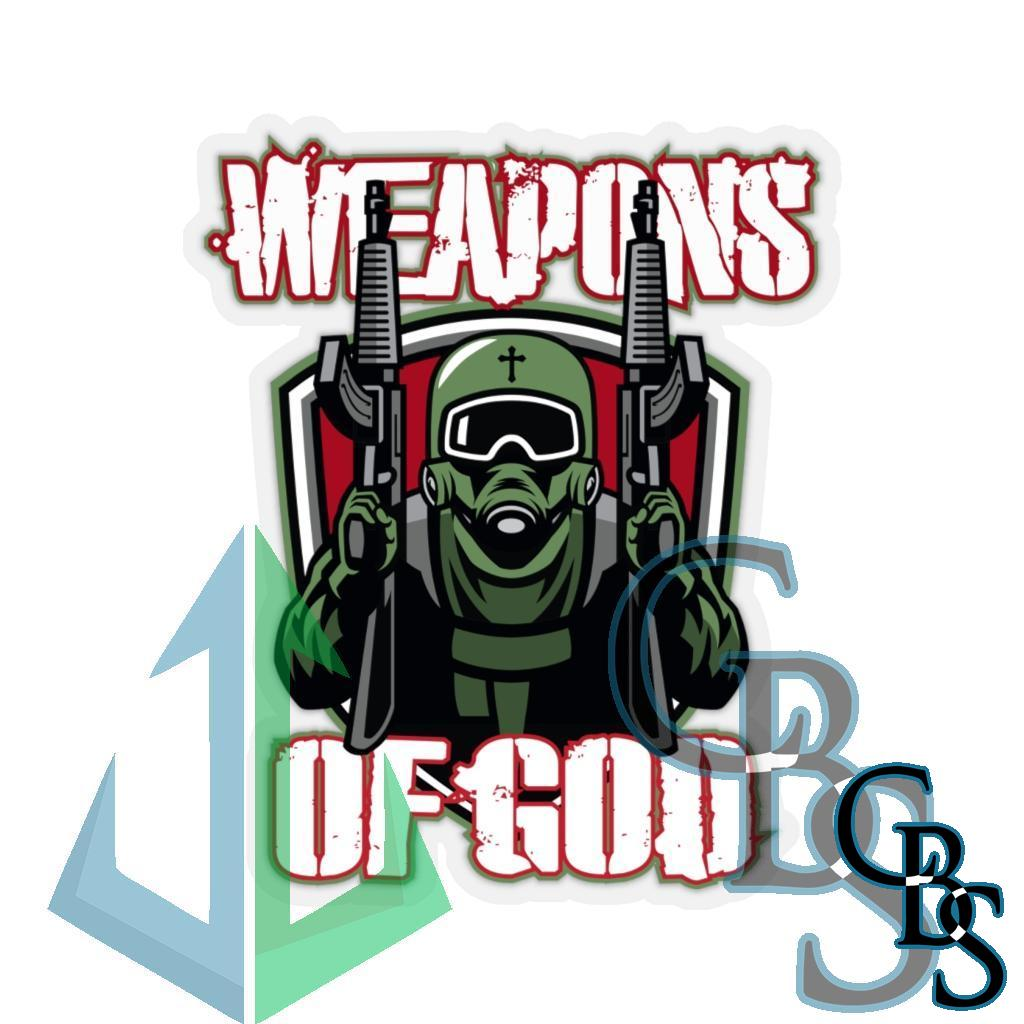 Weapons of God Die Cut Stickers