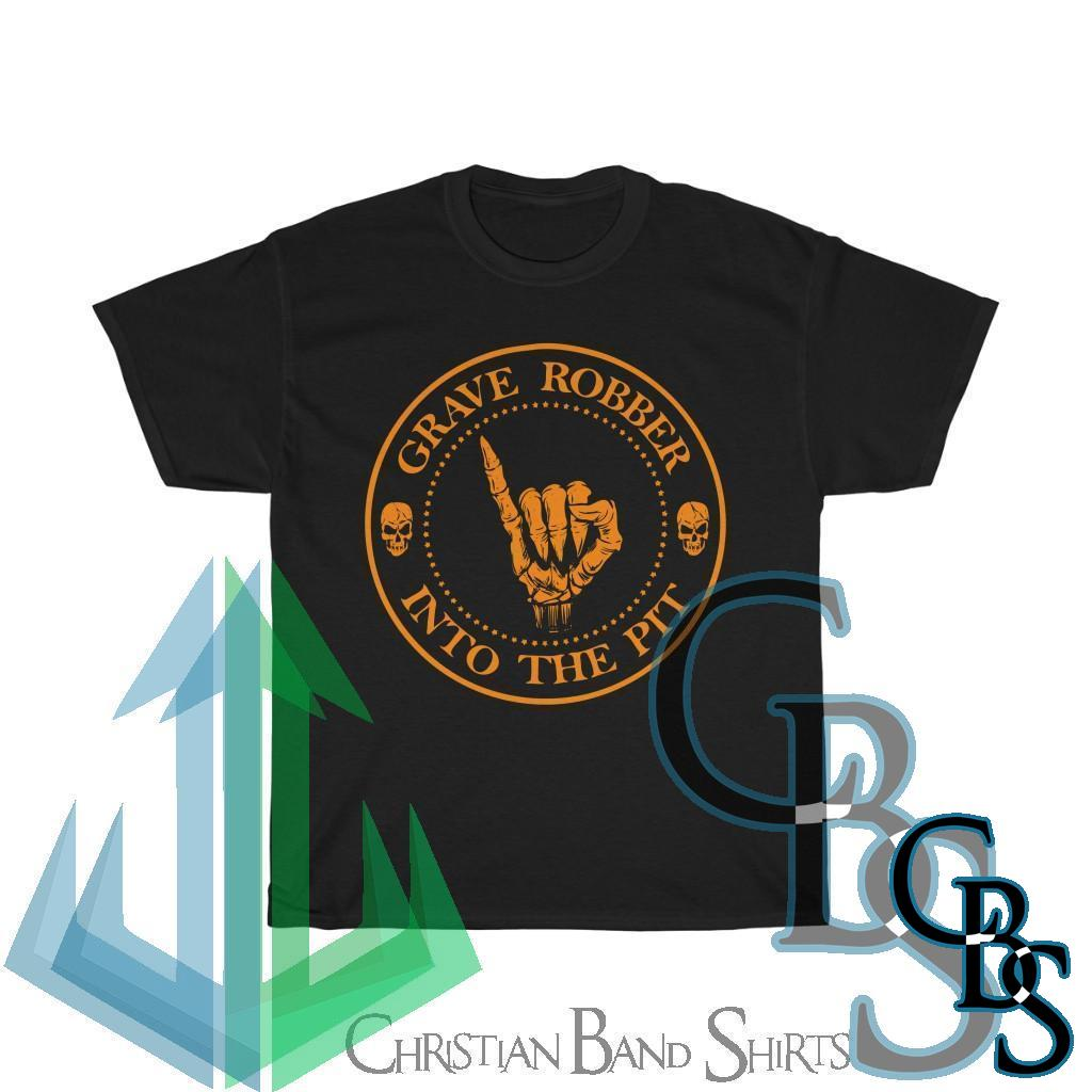 Grave Robber Into The Pit (Limited Edition Orange) Short Sleeve Tshirt