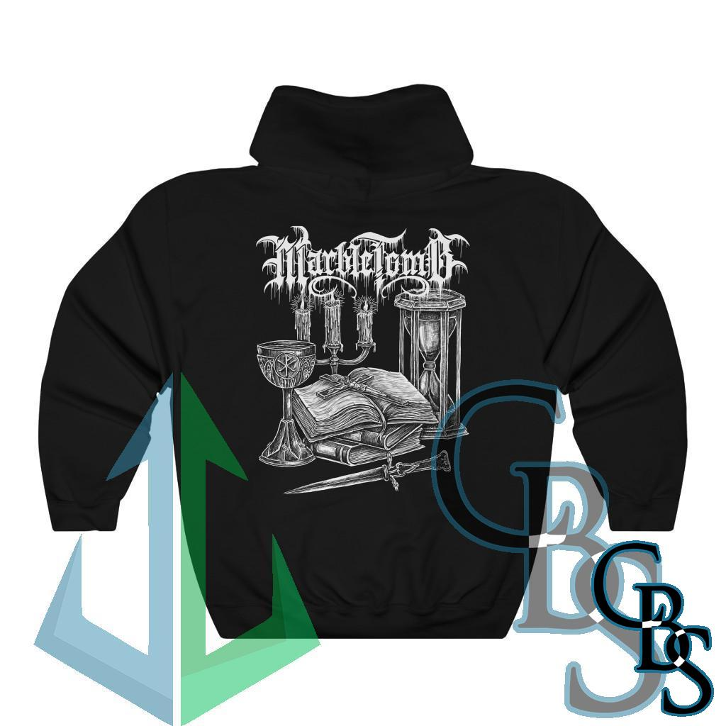 Marble Tomb Christ is King Pullover Hooded Sweatshirt (18500D)