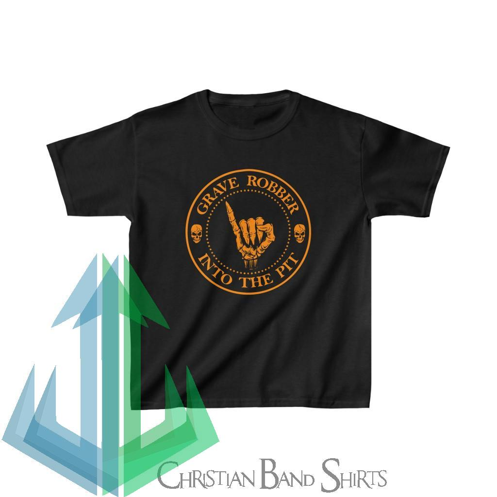 Grave Robber – Into the Pit (Limited Edition Orange) Kids Tshirt